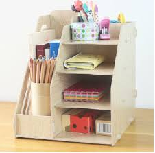 Wood Desk Accessories And Organizers And Office Supplies Wooden Stationery Holder File Tray