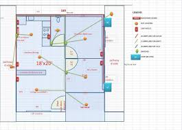 lay out electrical plan plumbing design for a space saving house