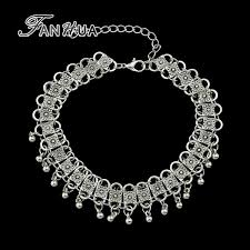 vintage jewelry choker necklace images Fanhua vintage jewelry antique silver color charm chain necklace jpg