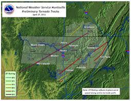 Tornado Map Second Ef 5 Tornado Confirmed In Hackleburg Alabama 4 27 2011