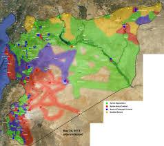 Damascus Syria Map Map Syria End May 2013 U2013 Green U003d Fsa Islamists Red U003d Regime