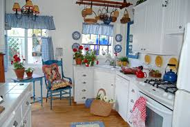 blue country kitchen home furniture and design ideas
