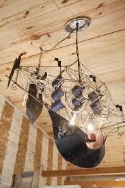 pirate ship light fixture junk gypsies diy pirate ship chandeliers from the junk gypsies