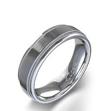 mens wedding rings white gold edge milgrain wedding ring in 14k white gold