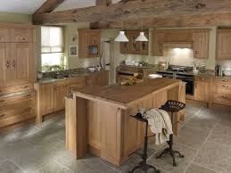 white rustic kitchen design with vaulted ceiling pendant lamps