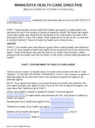 free medical power of attorney minnesota form u2013 pdf u2013 word