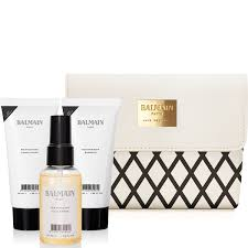 balmain hair balmain hair ss16 cosmetic bag with shoo 50ml conditioner