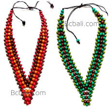 wood beads necklace designs images 2color shown chokers necklaces wood beaded 2color shown chokers jpg