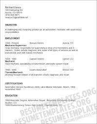Sample Diesel Mechanic Resume by Resume For Auto Mechanic Pics Photos Automotive Mechanic Resume