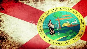 Floridas State Flag Florida State Flag Waving Grunge Look Royalty Free Video And
