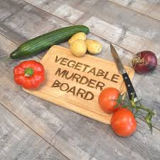 funny cutting boards vegetable murder board funny humorous wooden engraved chopping