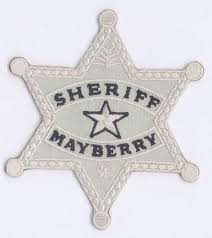 andy griffith show mayberry sheriff 4 badge patch scifi geeks
