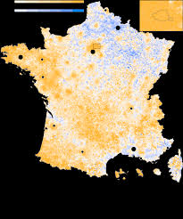 Map Of Tour De France by French Election Second Round Maps