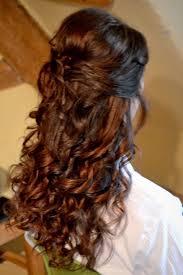 natural half up half down wedding hairstyle