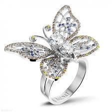 gold diamond rings white gold diamond rings 2 00 carat diamond butterfly baunat