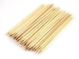 jovana 150pcs nail orange wood sticks cuticle