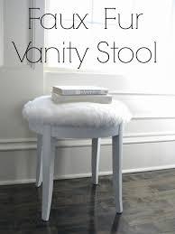 Vanity Stool Chrome Round Vanity Stool Home Vanity Decoration