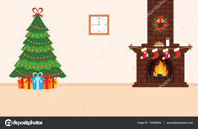 festive design of the room brick fireplace christmas wreath
