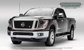 nissan white truck t rex nissan titan x metal 3 pc insert main grille w logo