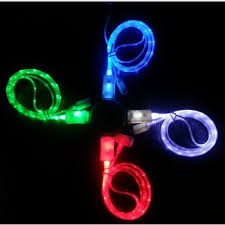 promotion wire colorful 1m led light 2a micro usb data cable for
