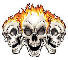 flaming skulls temporary skull designs by custom tags