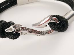 braided steel bracelet images Maui fish hook bullmaster stainless steel bracelet simple JPG