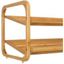 scarpiera ingresso scarpiera 2 ripiani legno bambu per bagno da letto