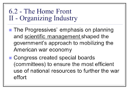 6 2 the home front i building up the military progressives