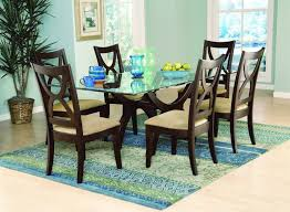 Black Stone Dining Table Top Rectangle Glass Dining Room Table White Clear Glass Windows