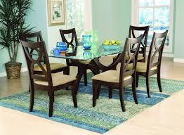 Glass Dining Room Table Tops Glass Dining Table Set White Ceramic Tile Floor Black Aluminium
