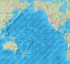 Ocean Maps Pacific Ocean Mercator Map Illustrator Mountain High Maps Plus