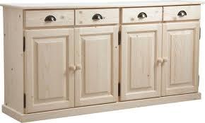 buffet meuble cuisine 4 portes 4 tiroirs en bois brut