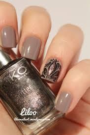 accent nail kiko brown nail art brown nail and brown