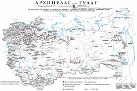 Former Soviet Union Map Map Of Soviet Gulags One Day In The Life Of Ivan Denisovich