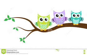 owl on a tree stock vector image 72180944