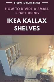 Divide Room Ideas Studio To Home 4 Ikea Kallax Room Divider Ikea Kallax Divider