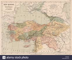 map asie asia minor and the bosphorus anatolia showing the route of