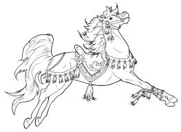 carousel horse coloring page funycoloring
