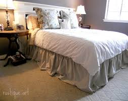 Shabby Chic Bed Skirts by Chic Not Shabby Dropcloth Draped Sofa Improvised Life