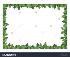 frame oak leaves acorns isolated on stock vector 619291376