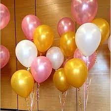 white balloons party balloons supplies 50 pack 12 inches ultra thickness gold