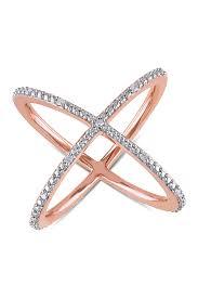 delmar sterling silver round green delmar white diamond axis ring 0 10 ctw nordstrom rack