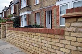 london brick work pillars for front garden wall google search