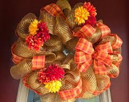mesh wreaths fall mesh wreaths etsy