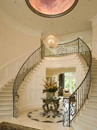 What Is A Grand Foyer Artale Grand Foyer And Dual Staircases Traditional Staircase