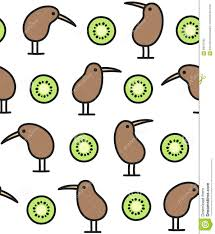 kiwi bird and fruit pattern stock vector image 68641365