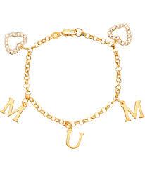 charm bracelet online images Buy 18ct gold plated silver cubic zirconia 39 mum 39 heart bracelet at jpg