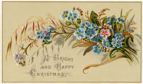 vintage cards vintage floral christmas card the graphics fairy