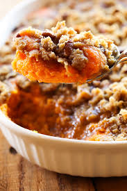 sweet potato casserole thanksgiving side dish chef in