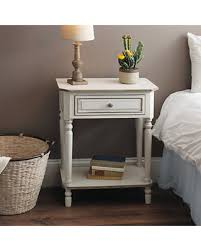 deal alert christina distressed white side table